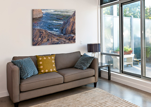 ROCKY RIVER EDGE MICHEL NADEAU  Canvas Print