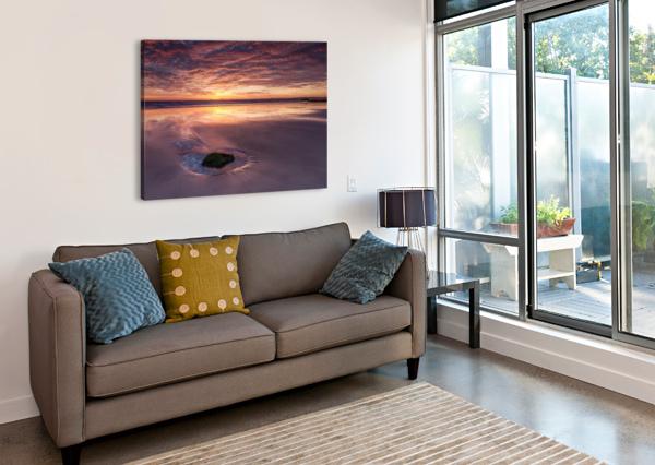 BEACH SUNSET KEITH TRUMAN  Canvas Print