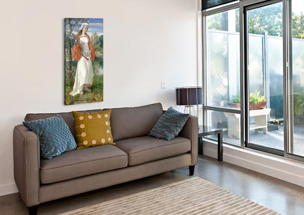 ALLEGORICAL MAIDEN IN WHITE DRESS GEORGE DUNLOP LESLIE  Canvas Print