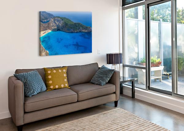 NAVAGIO BEACH WITH SHIPWRECK ON ZAKYNTHOS ISLAND IN GREECE LEVENTE BODO  Canvas Print
