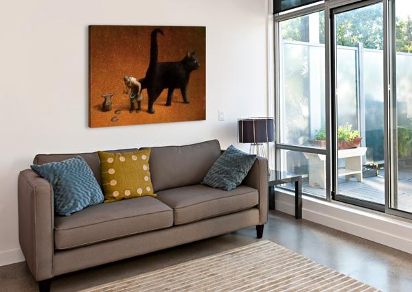 BLACK CAT PAWEL KUCZYNSKI  Canvas Print
