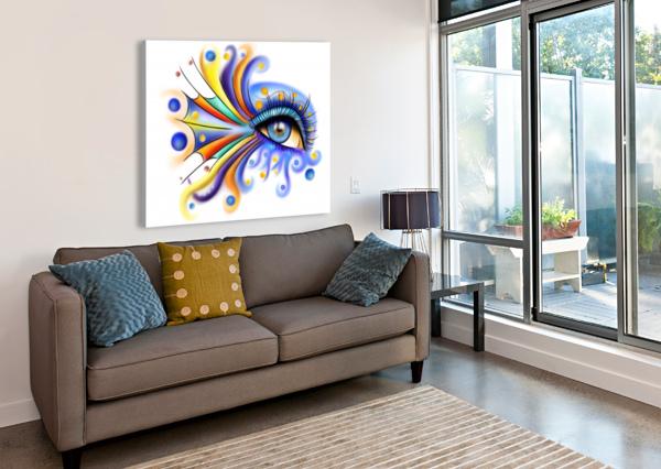 ARUBISSINA V2 - FISH EYE CERSATTI ART  Canvas Print