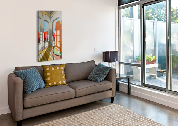 ABANDONED ROOM WITH THE EMPIRE STATE BUILDING FEDERICOCORTESE  Canvas Print