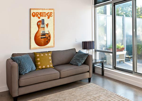 ORANGE VINTAGE ADVERTISING POSTER VINTAGE POSTER  Canvas Print