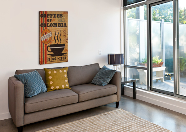 COLOMBIAN COFFEE VINTAGE POSTER VINTAGE POSTER  Canvas Print