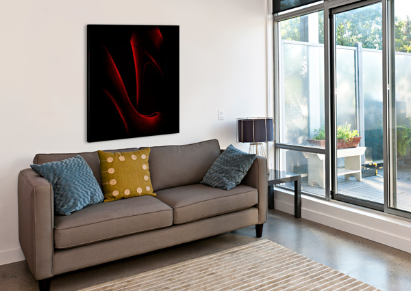 SHOE IN RED 1X  Impression sur toile