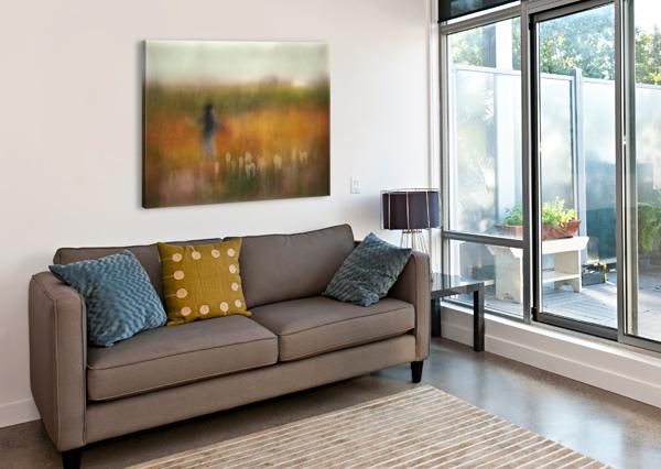A GIRL AND BEAR GRASS 1X  Canvas Print