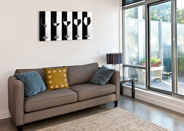 BLACK & WHITE 1X  Canvas Print