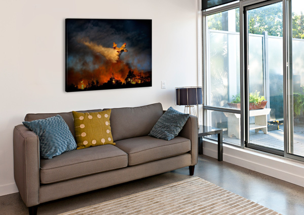WALL OF FIRE 1X  Canvas Print