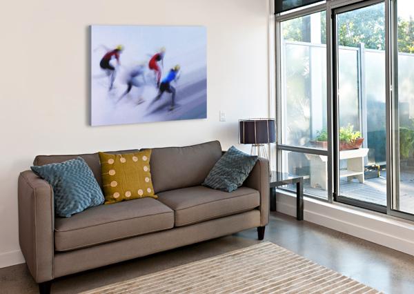 SPEED SKATING 1 1X  Canvas Print