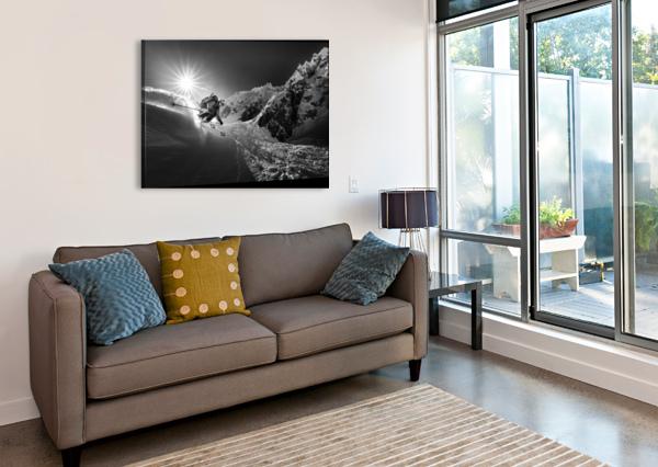 SNOW SPLASH OVER THE EDGE 1X  Canvas Print