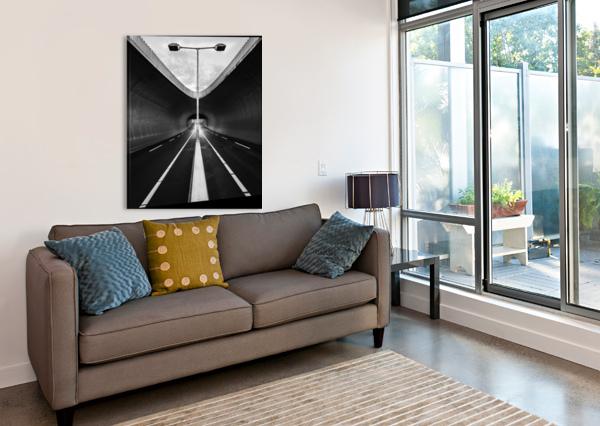 TUNNEL 1X  Canvas Print