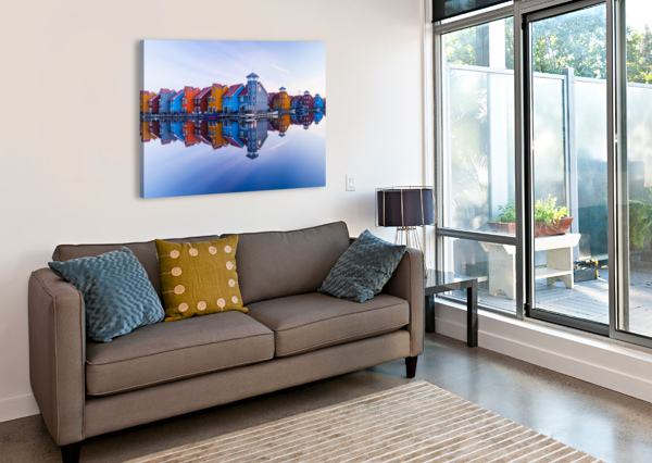 COLORED HOMES 1X  Canvas Print
