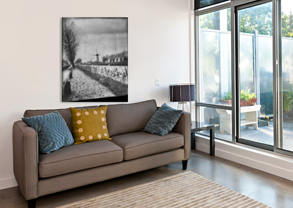 MY BELOVED FLAT COUNTRY: DAMME 1X  Canvas Print