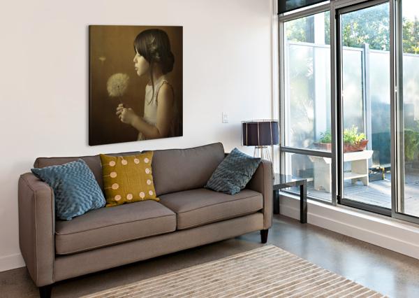 A DANDELION POEM 1X  Canvas Print