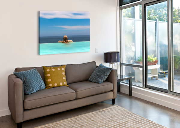 RED AND BLUE 1X  Canvas Print