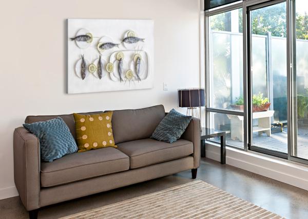 STILL LIFE WITH FISH 1X  Canvas Print