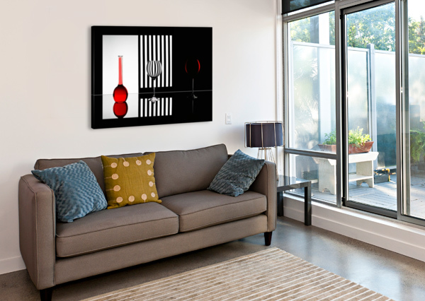 JUST RED 1X  Canvas Print