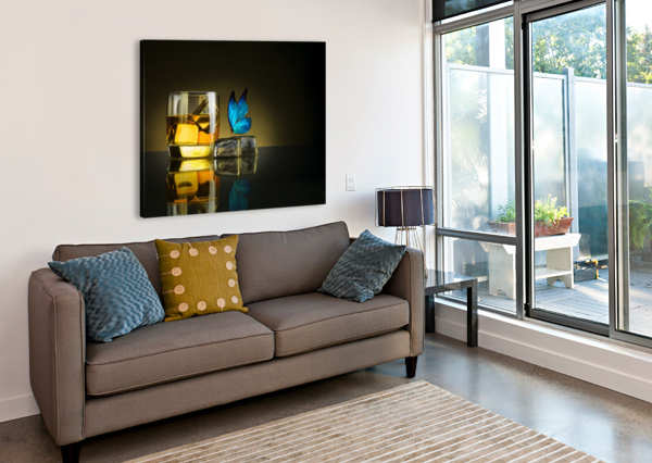 BUTTERFLY DRINK 1X  Canvas Print