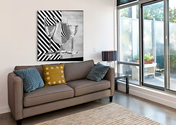 DOTS AND STRIPES 1X  Canvas Print