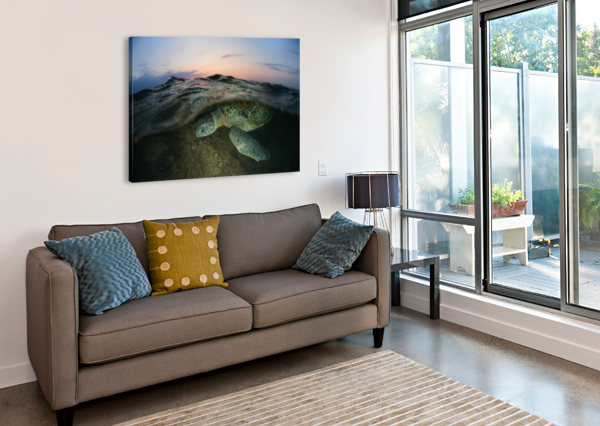 UNDER THE WAVE 1X  Canvas Print