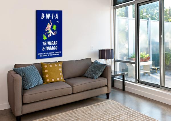 BWIA TRINIDAD TOBAGO ORIGINAL TRAVEL POSTER VINTAGE POSTER  Canvas Print