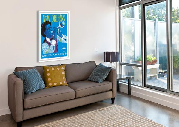 DELTA AIR LINES NEW ORLEANS USA VINTAGE TRAVEL POSTER VINTAGE POSTER  Canvas Print