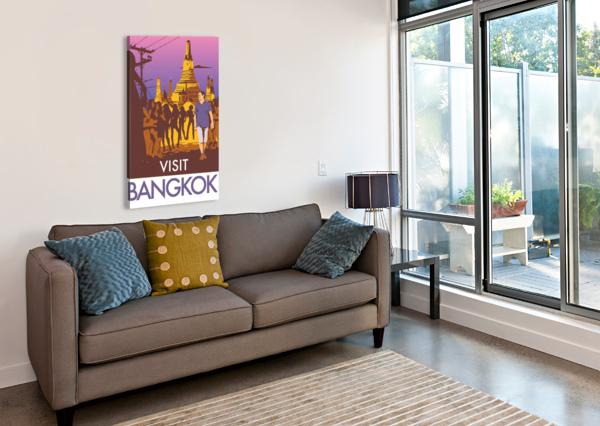 VISIT BANGKOK VINTAGE POSTER  Canvas Print