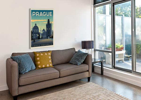 PRAGUE VINTAGE TRAVEL POSTER VINTAGE POSTER  Canvas Print