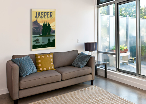 JASPER NATIONAL PARK VINTAGE POSTER  Canvas Print