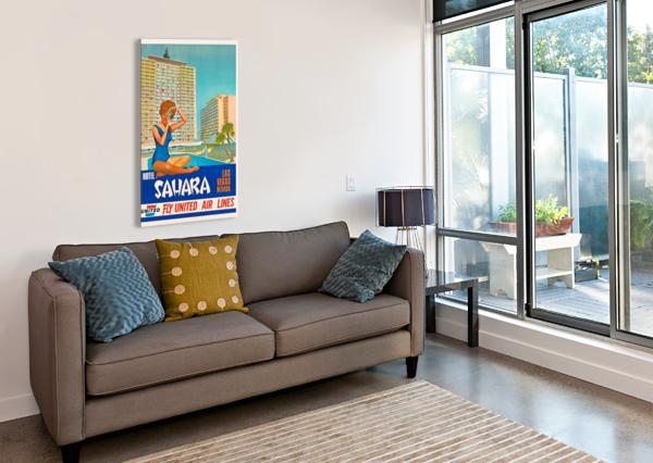 HOTEL SAHARA LAS VEGAS NEVADA VINTAGE POSTER  Canvas Print