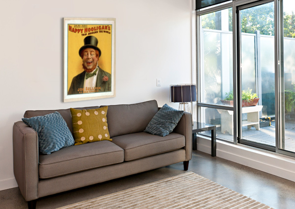 HAPPY HOOLIGAN'S TRIP AROUND THE WORLD VINTAGE POSTER  Canvas Print