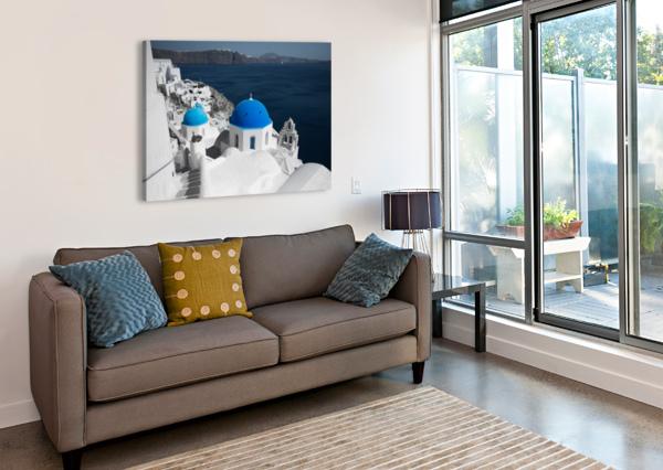 BLUE CHURCH FABIEN DORMOY  Canvas Print