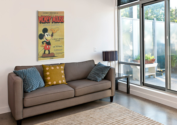 MICKEY MOUSE SOUND CARTOON VINTAGE POSTER  Canvas Print
