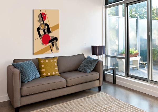 BAUHAUS NUDE VINTAGE POSTER  Canvas Print