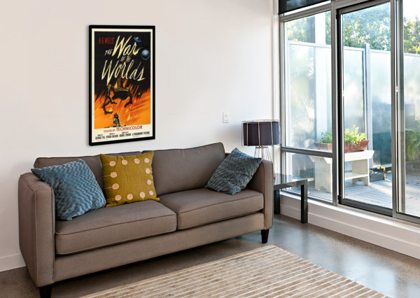 THE WAR OF THE WORLDS VINTAGE POSTER  Canvas Print