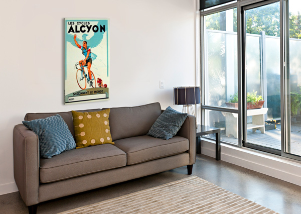 ALCYON CYCLES VINTAGE POSTER  Canvas Print