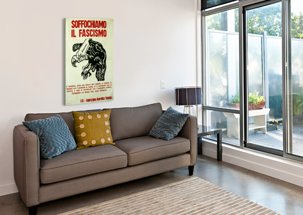 SUFFOCATE FASCISM VINTAGE POSTER  Canvas Print