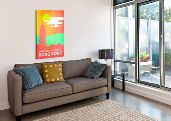 WELCOME TO FABOLOUS HONG KONG VINTAGE POSTER  Canvas Print