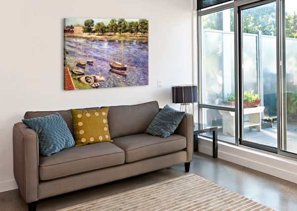 THE MARNE BY CAILLEBOTTE CAILLEBOTTE  Canvas Print