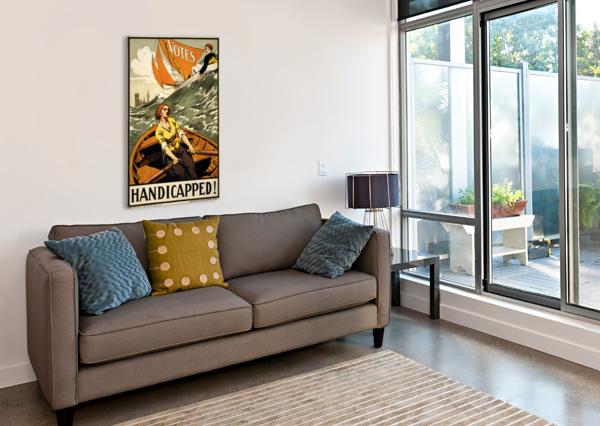 HANDICAPPED VINTAGE POSTER  Canvas Print