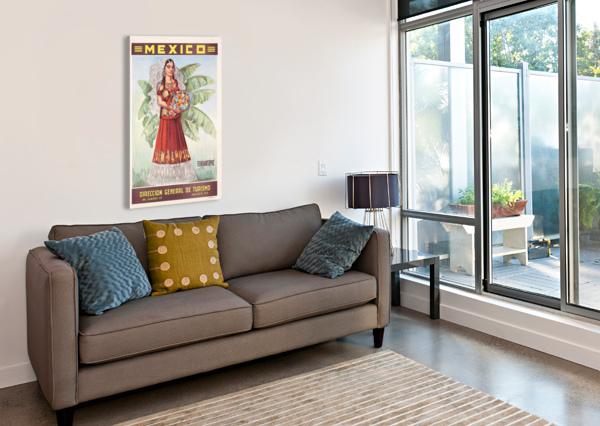 MEXICO TEHUANTEPEC VINTAGE POSTER VINTAGE POSTER  Canvas Print