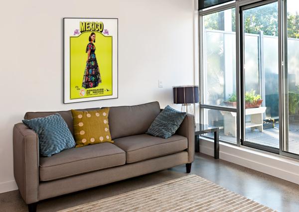 AERONAVES DE MEXICO POSTER VINTAGE POSTER  Canvas Print