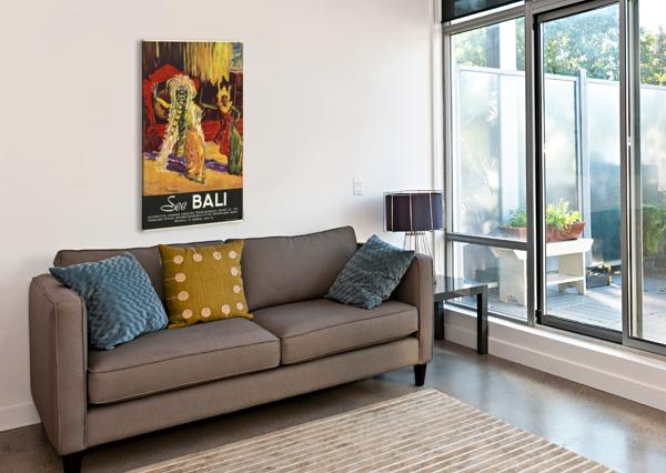 SEE BALI VINTAGE POSTER  Canvas Print