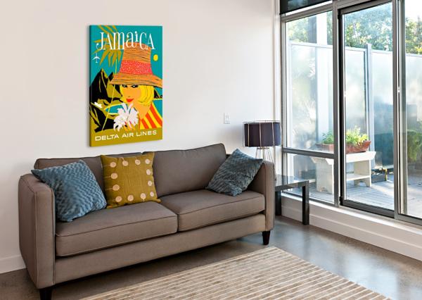 VINTAGE JAMAICA DELTA AIRLINES POSTER VINTAGE POSTER  Canvas Print