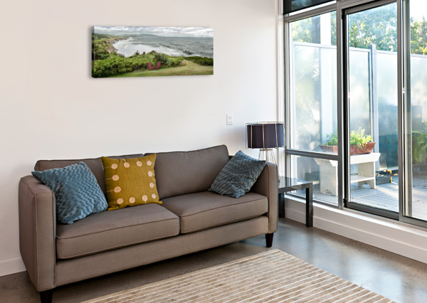 CHILLING AT CAP LEMOINE MICHEL SOUCY  Canvas Print