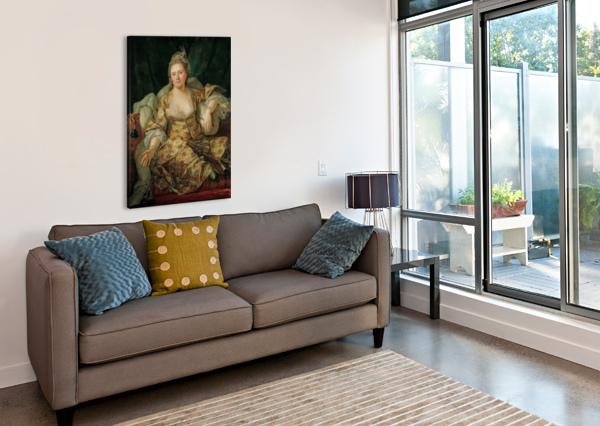 PORTRAIT OF THE COUNTESS OF VERGENNE ANTOINE DE FAVRAY  Canvas Print