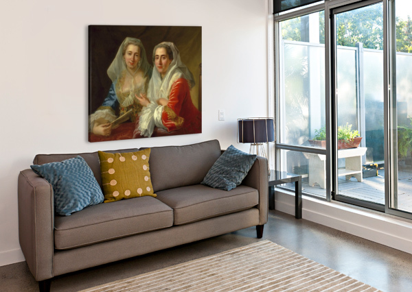 THE MIRABITA SISTERS ANTOINE DE FAVRAY  Canvas Print