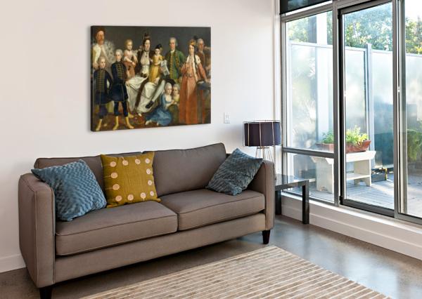 DAVID GEORGE VAN LENNEP AND FAMILY ANTOINE DE FAVRAY  Canvas Print