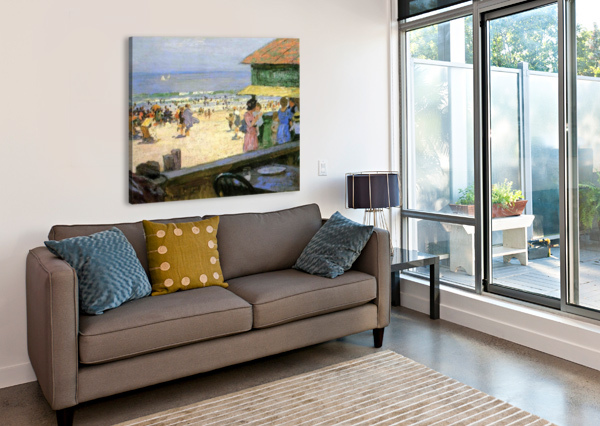 BEACH SCENES EDWARD HENRY POTTHAST  Canvas Print